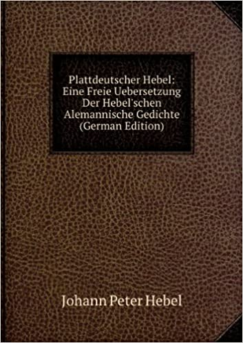 Hebels Alemannische Gedichte German Edition Hebel Johann