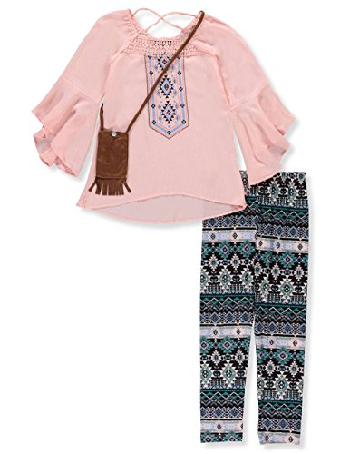 RMLA Big Girls' 2-Piece Leggings Set Outfit with Purse - Blush, 7 by RMLA