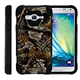 TurtleArmor | Samsung Galaxy J3 Case | Amp Prime | Express Prime | Sol | Sky [Dynamic Shell] Hybrid Dual Layer Hard Shell Kickstand Silicone Case - Tree Leaves Camouflage