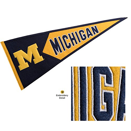 Winning Streak Michigan Wolverines Wool Embroidered and Sewn Pennant
