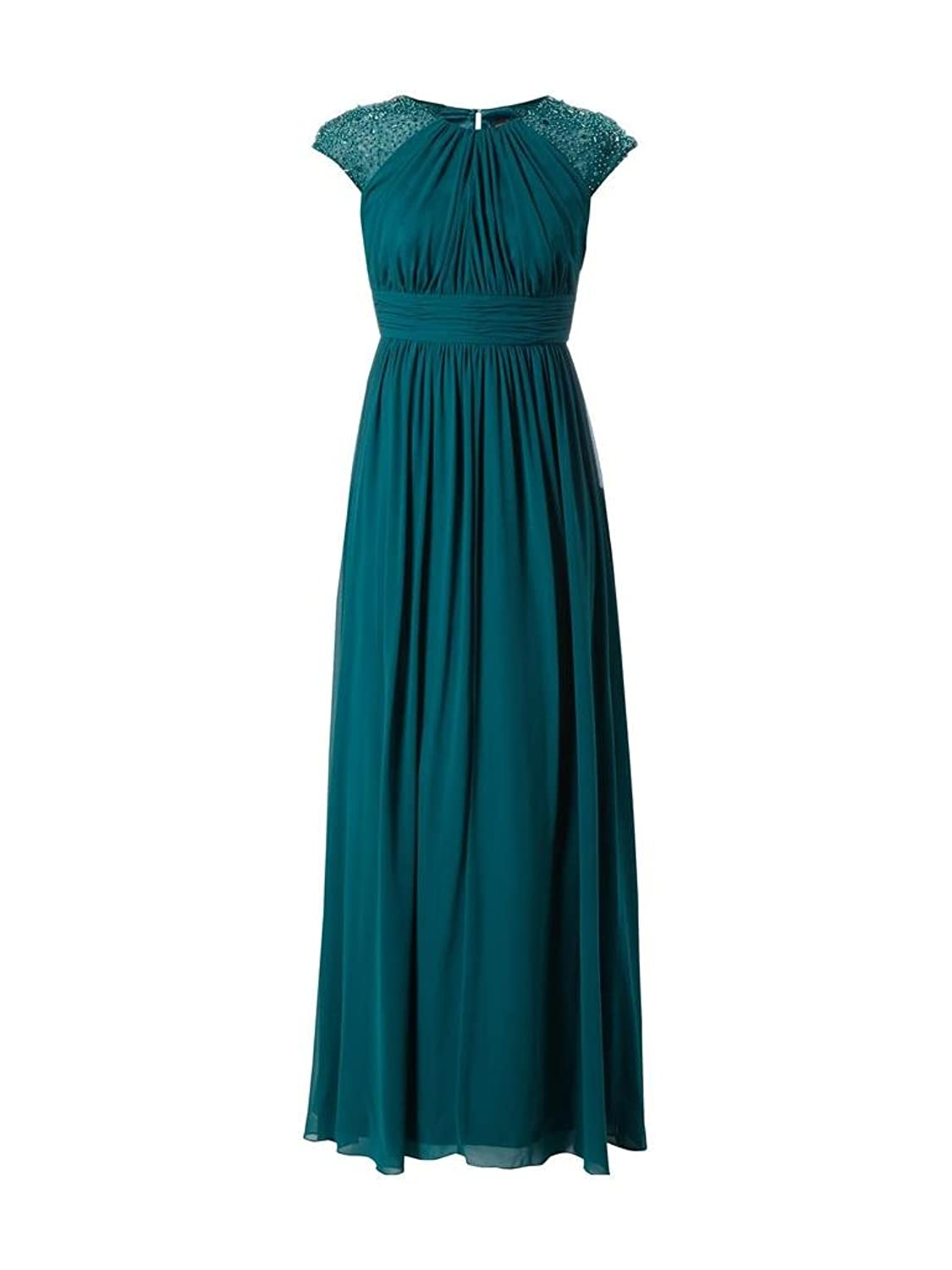 Charm Bridal Green Chiffon Mother of Bride Party Dresses with Short Sleeves Long