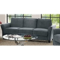 Lifestyle Solutions CCWENKS3M26DGRA Watford Sofa in Grey, Dark Grey