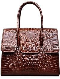 Top Handle Satchel Handbags Crocodile Women Leather Purse