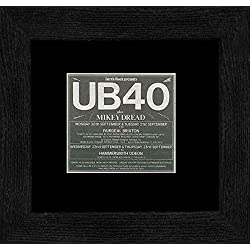 UB40 - 1982 Tour Dates Framed and Mounted Print - 18x18cm