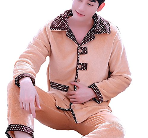 Respeedime Cotton Weave Male Flannel Pajama Sets