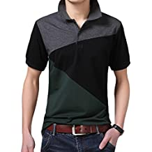 Lovelelify Mens Polo Shirts Short Sleeve Slim Fit Polo T Shirts