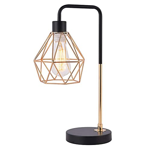 COTULIN Bedside Table Lamp, Delicate Design Desk Lamp for Living Room Bed Room,Gold