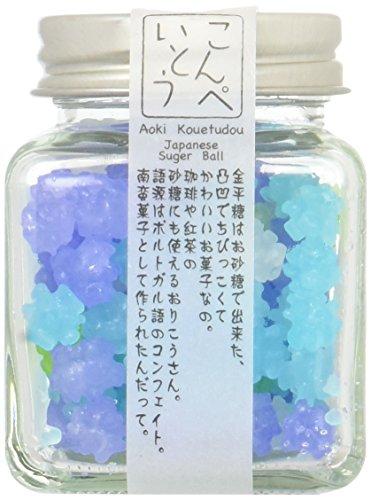 "Konpeito [Forget-me-not ""Wasurena Sou""] (50g) [Kyoto Japan Import] Glass Bottle"