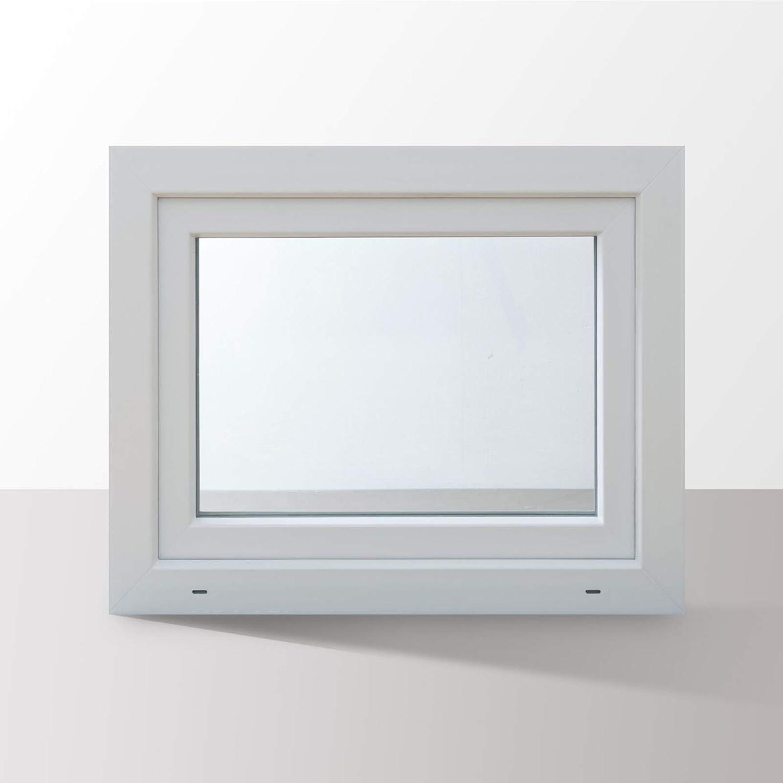HORI/® Dreh-Kipp Kunststoff-Fenster I 2-fach verglast wei/ß I DIN rechts I 600 x 800 mm L/änge x Breite