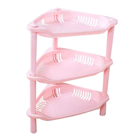 Amazon.com: Bathroom Storage Rack Holder,Mailat 3 Tier Plastic ...