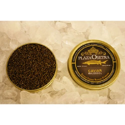 Plaza de Caviar's Delicious Plaza Osetra Farmed Russian Sturgeon Caviar, 8.8 ounce Tin