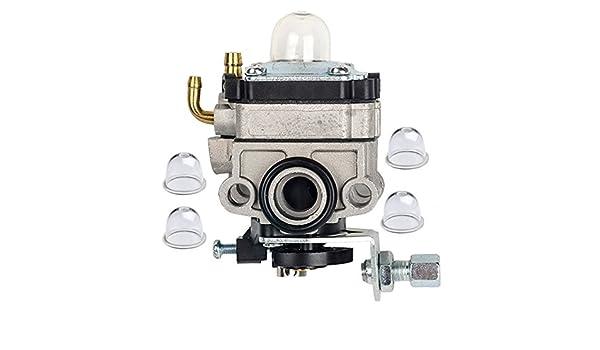 HIFROM carburador Carb con 4 imprimación Blub para Honda GX22 GX31 ...