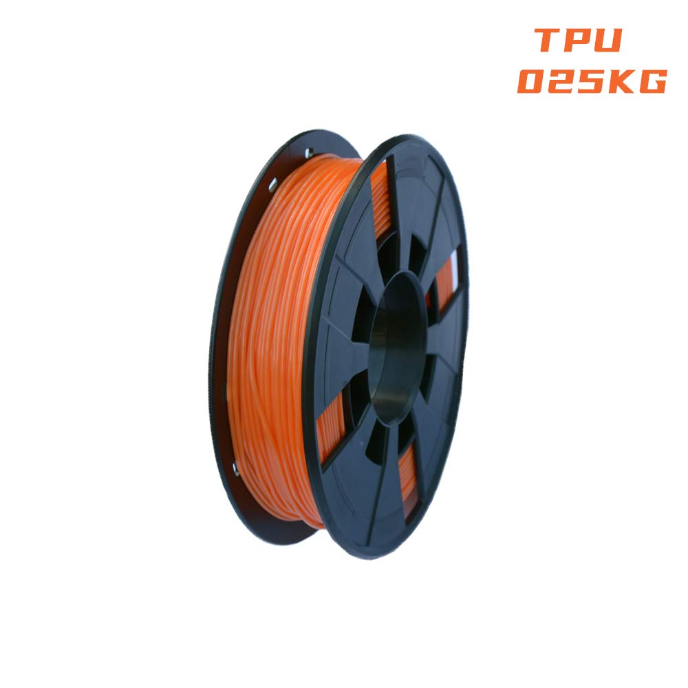 Orange LEE FUNG 1.75mm TPU 3D Printing Filament 0.25KG Dimensional Accuracy +//- 0.05mm 0.55 LBS Spool,1.75 mm 3D Filament for Most 3D Printer /& 3D Printing Pen