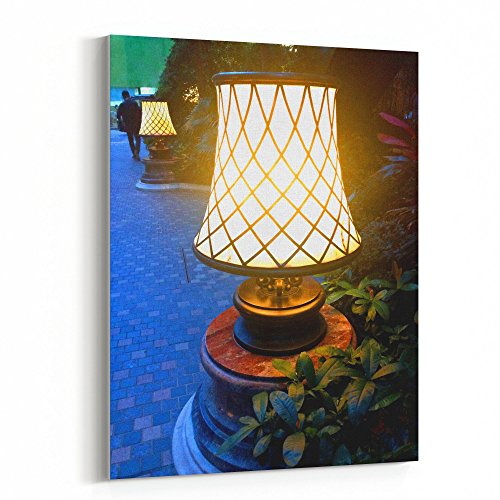 Hand Printed Shade Table Lamp - Westlake Art - Lamp Light - 16x20 Canvas Print Wall Art - Canvas Stretched Gallery Wrap Modern Picture Photography Artwork - Ready to Hang 16x20 Inch (C221-19A23)