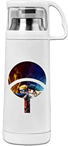 VOLTE Uchiha Sasuke Japanese Comic Naruto Shippuden Portable Stainless Steel Vacuum Cup Perfect For Running Keep Water Warm Or Cold 8 Hours 14 Ounces