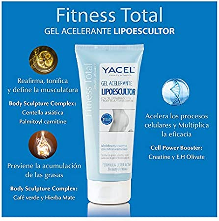 Yacel Fitness Total, Acelerante Lipoescultor Remodela y Tonifica Figura 200ml