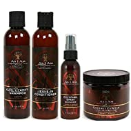 As I Am Naturally 4pcs MEGA Combo Deal (Curl Shampoo, Leave-In Conditioner, Coconut CoWash, and Cocoshea spray Moisturizer) Plus 1 free pencil