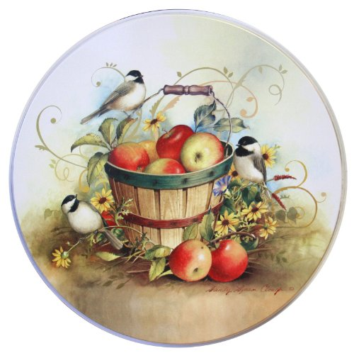 Birds Apple House - Reston Lloyd Electric Stove Burner Covers, Set of 4, Chickadees All-Over Pattern