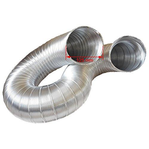 Alu Flex Rohr Abluftschlauch Abzugshaube Aluminium flexibel /Ø 100 mm f/ür Klimaanlagen 3 m z.B W/äschetrockner