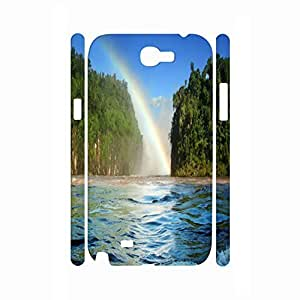 Designed Relax Series Rainbow Patern Good Protection Hard Plastic Phone Shell For Samsung Galaxy Note 2 N7100