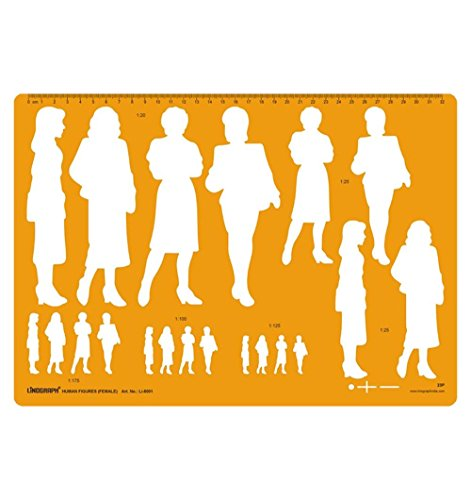 Female Human Figure Template Drafting And Design Templates Stencil Symbols
