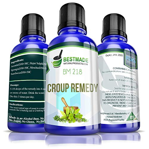 Croup Remedy BM218, 30mL, A Natural Supplement that Helps Relieve Inflammation & Swelling to Make Breathing Easier, Helps with Fevers, Sore Throats & Other Symptoms of Croup