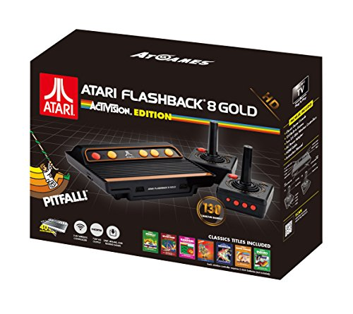 Atari Flashback 8 Gold: Activision Edition with 130 Games, Includes 2 Wireless Controllers - HDMI output