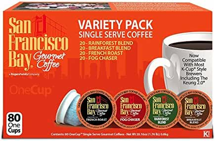 San Francisco Bay OneCup, Variety Pack, 72 Single Serve Coffees
