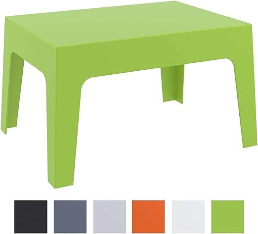CLP Mesa De Exterior Box En Polipropileno I Mesa Auxiliar De Jardín I Mesa De Terraza Resistente a Rayos UV I Mesa De Jardín Apilable I Color: Verde: Amazon.es: Jardín