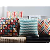 【Bailand】Set of 4 Modern Minimalism New York's Lights Decorative Pillow Covers