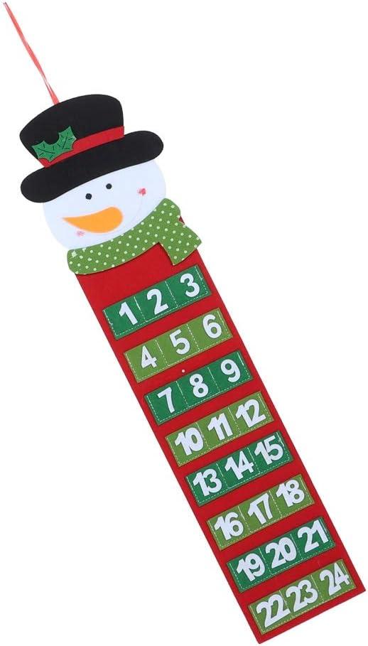 TOPINCN Christmas Advent Calendars Reusable Countdown Calendar Home Wall Door Hanging Calendar Decorations 2#