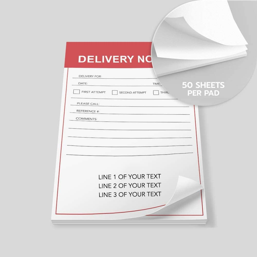 6 Pads of 50 Sheets I Heart Deliveries Vertical Printed in The USA Post-it Notes