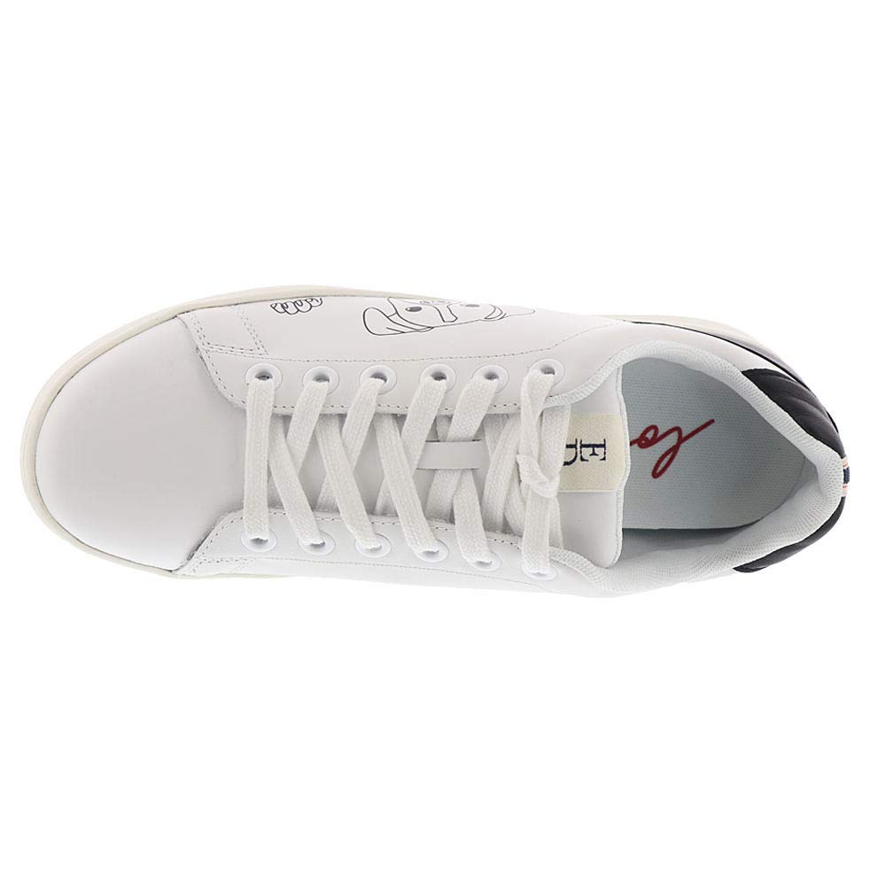 ED Ellen Degeneres Womens Chapanima Sneaker,Pure White//Black Leather,US 6 M