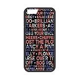 Jumphigh Typography Print British Slang UK Flag IPhone 6 Cases, [Black]