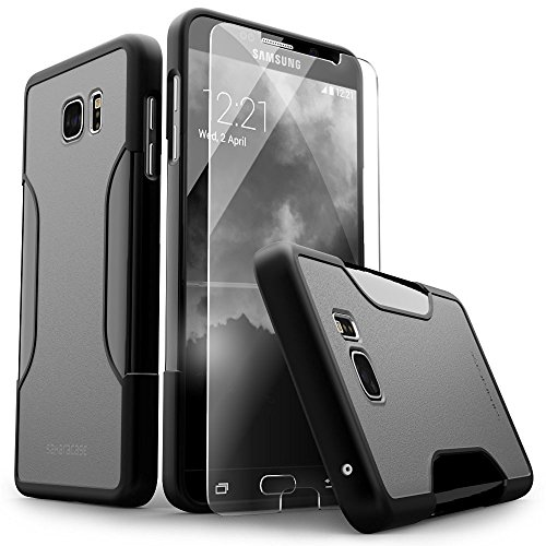 Galaxy S6 Edge Plus Case, (Black) SaharaCase Protective Kit [Case + Tempered Glass Screen Protector] Rugged Hard Frame [Slim Fit] Shock-Absorbing Bumper (Black/Gray)