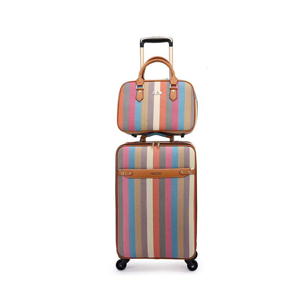 トロリースーツケース、TSAロック付き大容量トラベルローリング荷物、4スピナーホイール、男性用キャリーオンリー B07TCHRWL9 Suitcase+bag 20inch