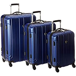 Traveler'S Choice Cambridge Hardside Lightweight Spinner Luggage Set - Blue ( 20-Inch , 24-Inch And 28-Inch )