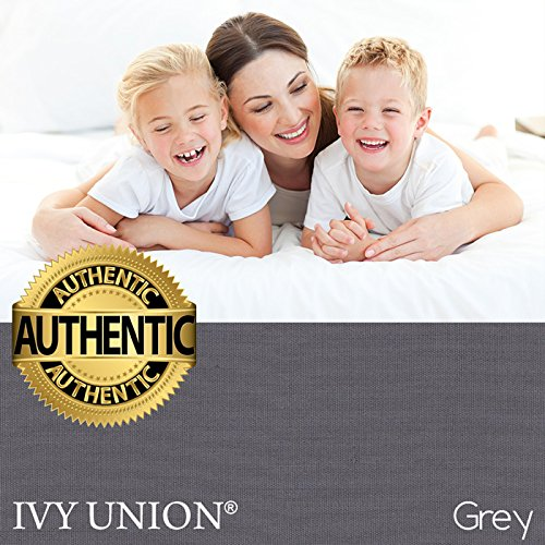 Ivy Union 2 Twin XL Fitted Bed Sheets (2-Pack) - Twin Extra Long, 15'' Deep Pocket, 39'' x 80'', (Twin XL, Grey) by Ivy Union (Image #4)