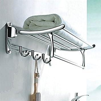 Bathroom Accessories.Handy Stainless Steel Bathroom Accessories Folding Rack 18 Inch