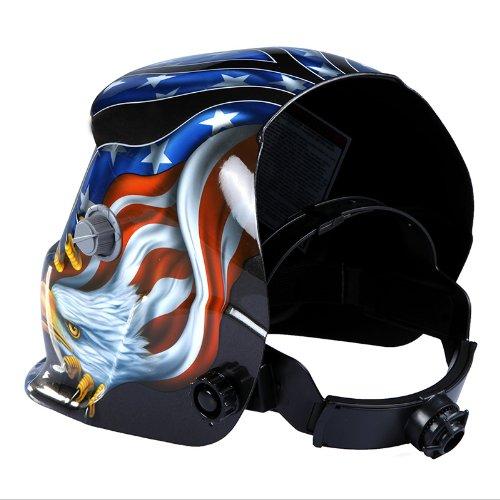 KKmoon Solar Soldadura de Oscurecimiento Automático de Casco Soldadores Máscara,Máscara de Soldadura Solar, Casco para Soldadura con Figura de ...