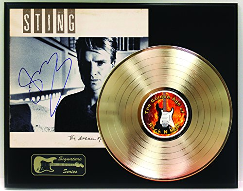 Sting Gold LP Record Reproduction Signature Series Limited Edition Display