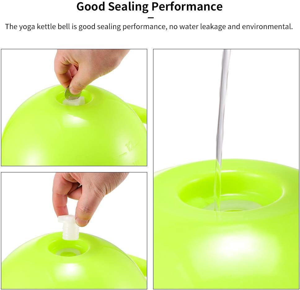 ACECITY Yoga Fitness Kettle Bell am/élior/é r/églable Eau Kettlebell Double poign/ées Doux Pilates /équipement de Sport pour Les Femmes