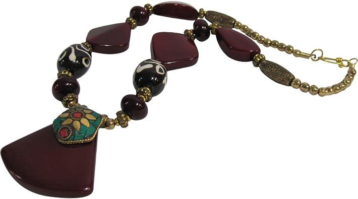 Goldtone /& Crystal Tibetan Buddha Long Beaded Fashion Necklace /& Earring Set