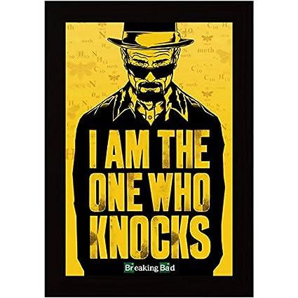 Posterskart Breaking Bad \'I Am The One Who Knocks\' Framed Poster for ...