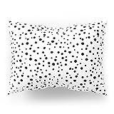 Society6 PolkaDots-Black On White Pillow Sham Standard (20'' x 26'') Set of 2