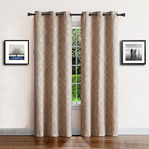 Cheap  Warm Home Designs 1 Pair (2 Panels) of Extra Long Brown Taupe..