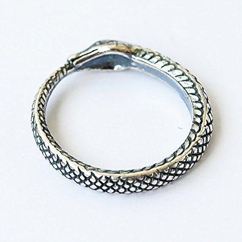 Uroboros Snake eat tail ring