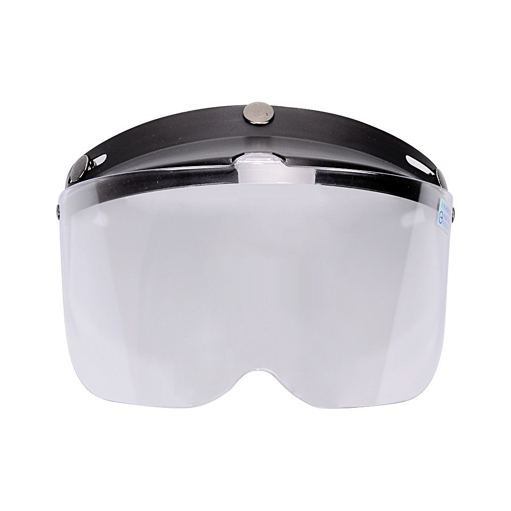 1Pcs Flip Up Clear Visor Full Face Shield 3 Snap For Open Half Face Helmet Motorcycle 3-Snaps Flip-Up Visor Full Face Shield