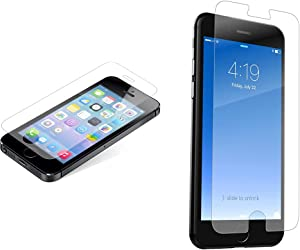 Zagg Invisibleshield Glass Screen Protector for iPhone 5 / iPhone 5s / iPhone 5C / iPhone SE - Clear & InvisibleShield Glass+ Screen Protector – Fits iPhone 8, iPhone 7, iPhone 6s, iPhone 6