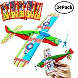 BESTZY Gliders Planes,Plane Glider, Foam Gilder Plane,Glider Plane Toy Gliding Airplanes for Children as a Prize and a Present for The Children's Birthday (Glider Plane 24P)